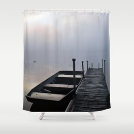 Misty Adirondack Dawn: A Duck's Paradise Shower Curtain