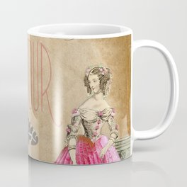 Hibiscus Dress Lady Coffee Mug