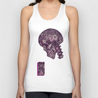 gothic Tank Tops featuring Gothic Skull by AKIKO