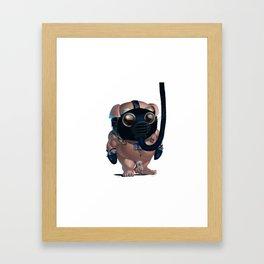 Kink Pig Slave Tumble Gasmask Naked Framed Art Print