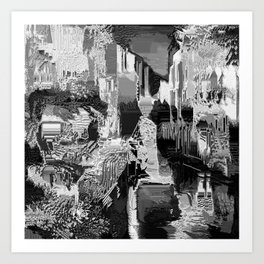 metal canal Art Print
