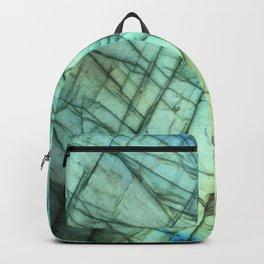 Labradorite Agate Gemstone print Backpack
