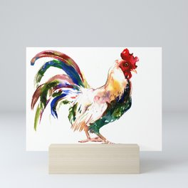 Rooster, Rooster art, Country style design Mini Art Print