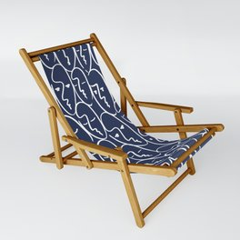 faces / navy Sling Chair