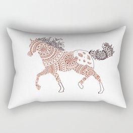 Horse Circle Art Rectangular Pillow