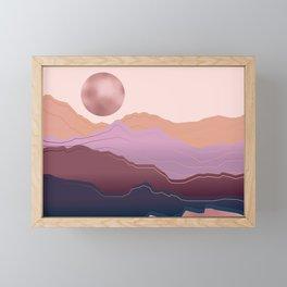 Golden Rose Mountains Framed Mini Art Print