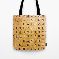 game Tote Bags featuring Game by pixel404