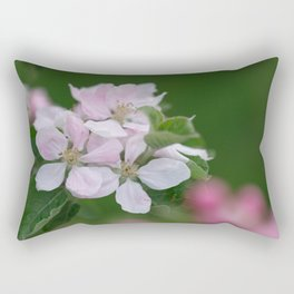 Classic Image Of Apple Tree Blossoms In The Garden In Spring Rectangular Pillow