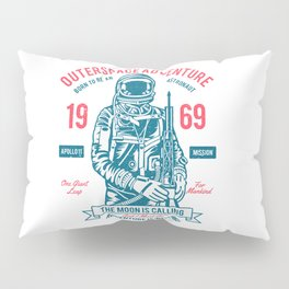 Outer space Adventure - Born to be an astronaut Pillow Sham