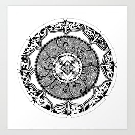 Peace in Fire Mandala Art Print