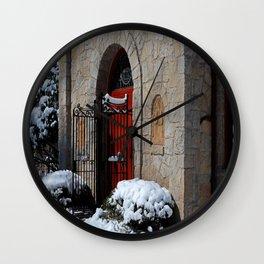 Portiuncula Chapel Doors Wall Clock