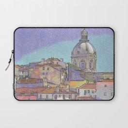 Santa Ingrácia church and Alfama rooftops, Lisbon Laptop Sleeve