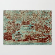 1950 Ford F100- Textured Rust Canvas Print