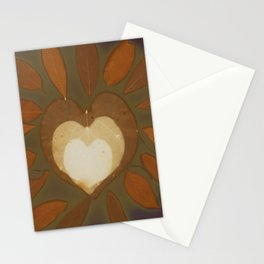 glowing heart Stationery Cards