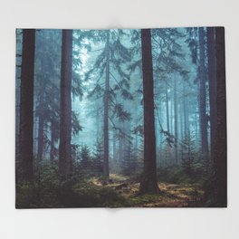 In the Pines Throw Blanket