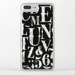 Vintage gothic alphabet chalk Clear iPhone Case