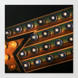 midway lights Canvas Print