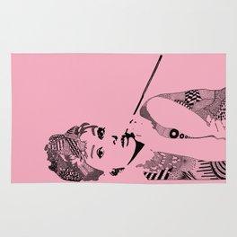 Audrey Hepburn - pink Rug