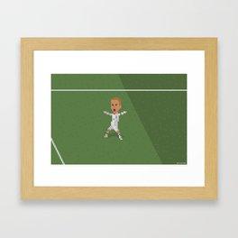 Beckham's celebration against Greece Framed Art Print
