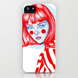 Blue-red girl iPhone Case