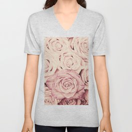 Some people grumble I Floral rose roses flowers pink Unisex V-Neck