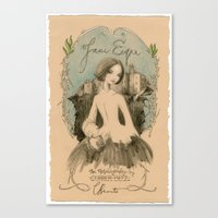 jane eyre Canvas Prints featuring Jane Eyre by Charlotte Bronte by BA Jennings