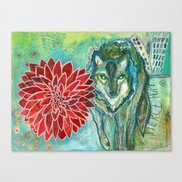 Wolf: Fierce Hope Canvas Print