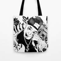 rap Tote Bags featuring rap by Dagmara Jagodzinska