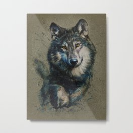 Wolf 2 background Metal Print