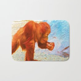 lovely Orang Baby, painted Bath Mat