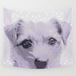 Curious little dog waiting for you - funny dog portrait Wall Tapestry