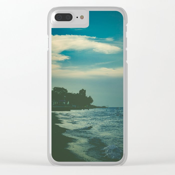 Good Bye Blue Sky Clear iPhone Case