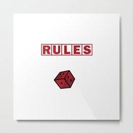 Boardgame Addict Tabletop Game Rules Saying Gift Metal Print