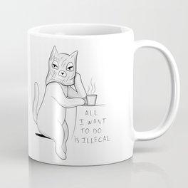 Illegal Cat Coffee Mug