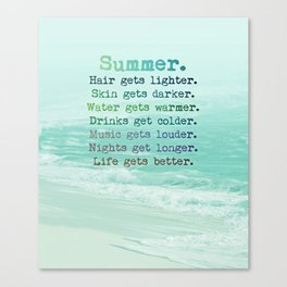 SUMMER by Monika Strigel Canvas Print