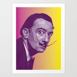 Salvador Dali Low Poly Collection Art Print