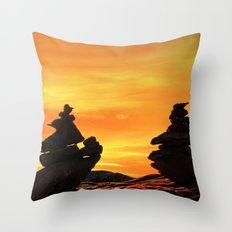 Zen mountains Throw Pillow