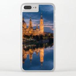 Zaragoza, Aragon, Spain. Clear iPhone Case