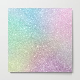 Ombre glitter #12 Metal Print
