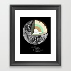 Earth Cream Framed Art Print