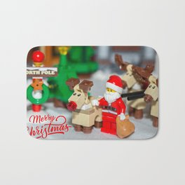 Santa and Rudolf Bath Mat