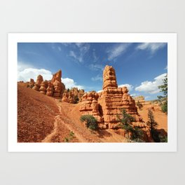 Along the Red Canyons in Southern Utah Art Print