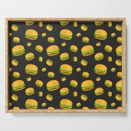 Cool and fun yummy burger pattern Serving Tray