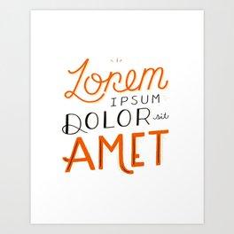 Lorem Ipsum Art Print