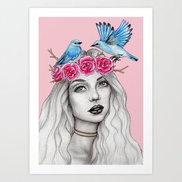 Birds need a place to rest Art Print