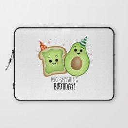 Avo Smashing Birthday - Avocado Toast Laptop Sleeve