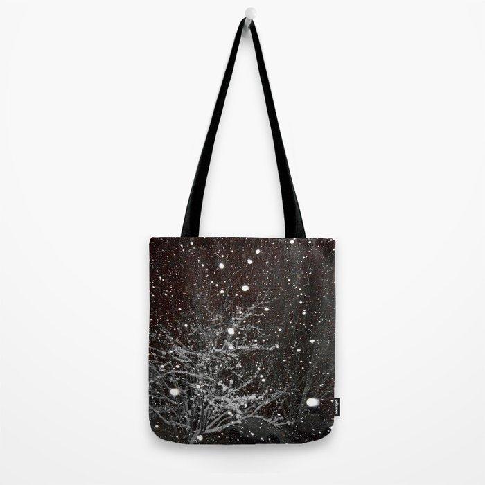 Night Snow Tote Bag