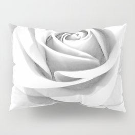 Grey Rose Pillow Sham