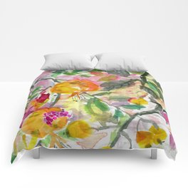 Pomegranate, Fruit and Flowers Comforters