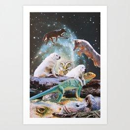 Cosmic Creatures Art Print